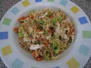Basic Chinese Chicken Fried Rice