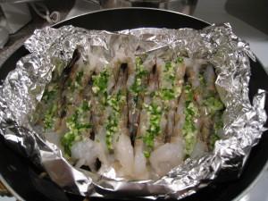 Put garlic and scallion mixture on top