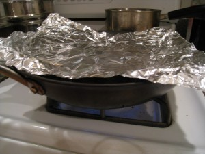 Use Aluminum Foil as a Lid